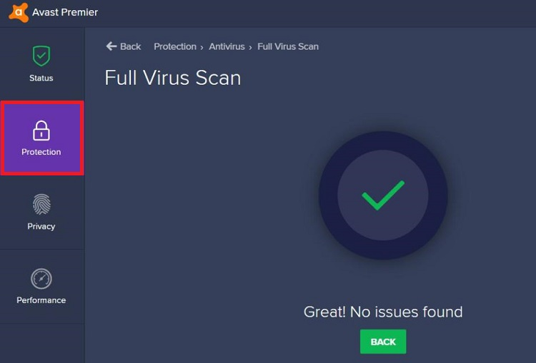 Avast Antivirus Application protection