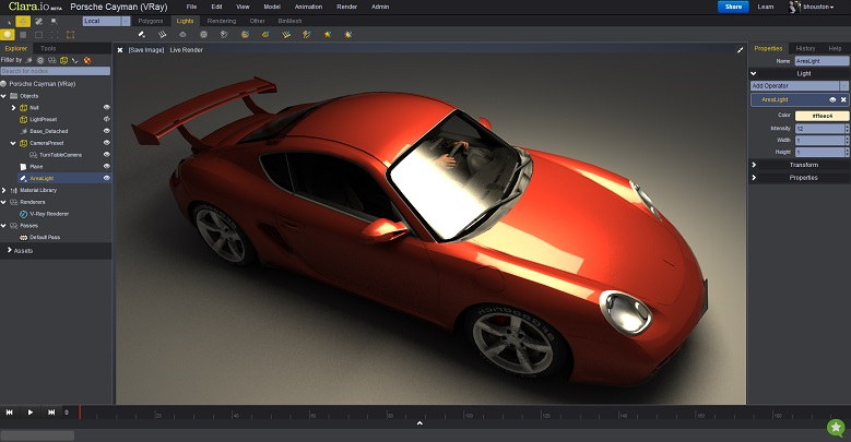 Clara.io - Best 3D Animation Software